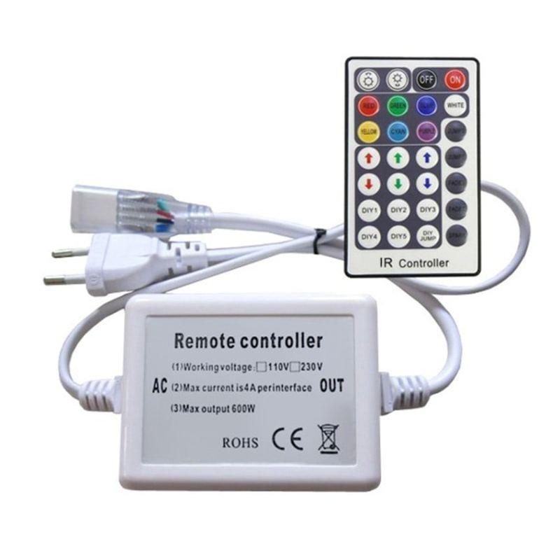 Contrôleur Rubans LED RGB 220V AC télécommande IR 28 Touches