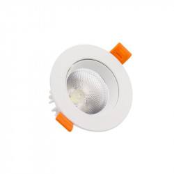Spot LED COB Orientable Rond 12W Blanc