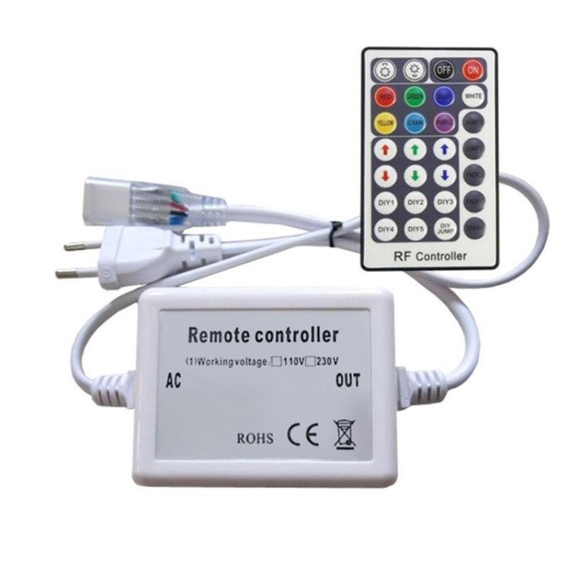 Contrôleur radio fréquences de rubans LED RGB 220V AC Télécommande 28 Touches
