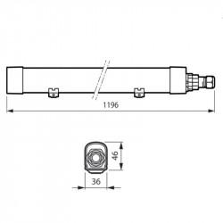 Réglette étanche LED Philips Ledinaire 1200mm 33W IP65