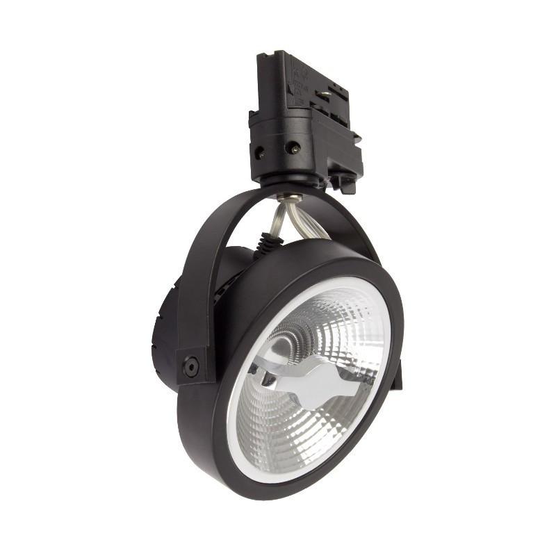 Spot LED COB Noir Dimmable pour Rail Triphasé - CREE AR111