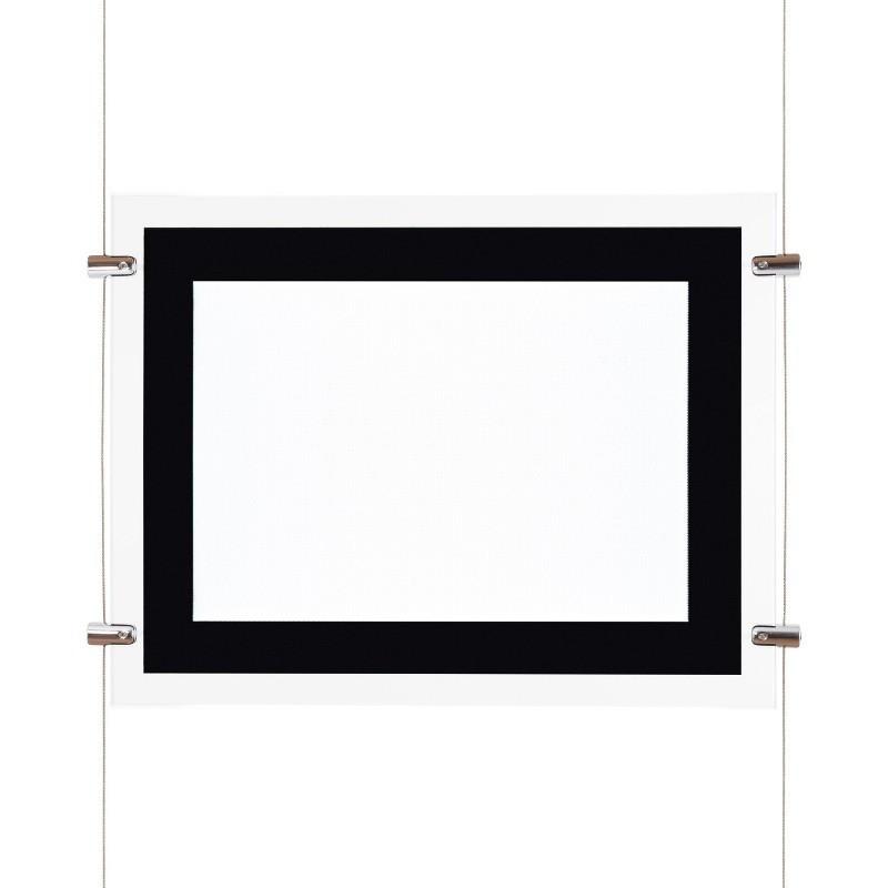Affichage de vitrine horizontal led A3 - ledpourlespros.fr