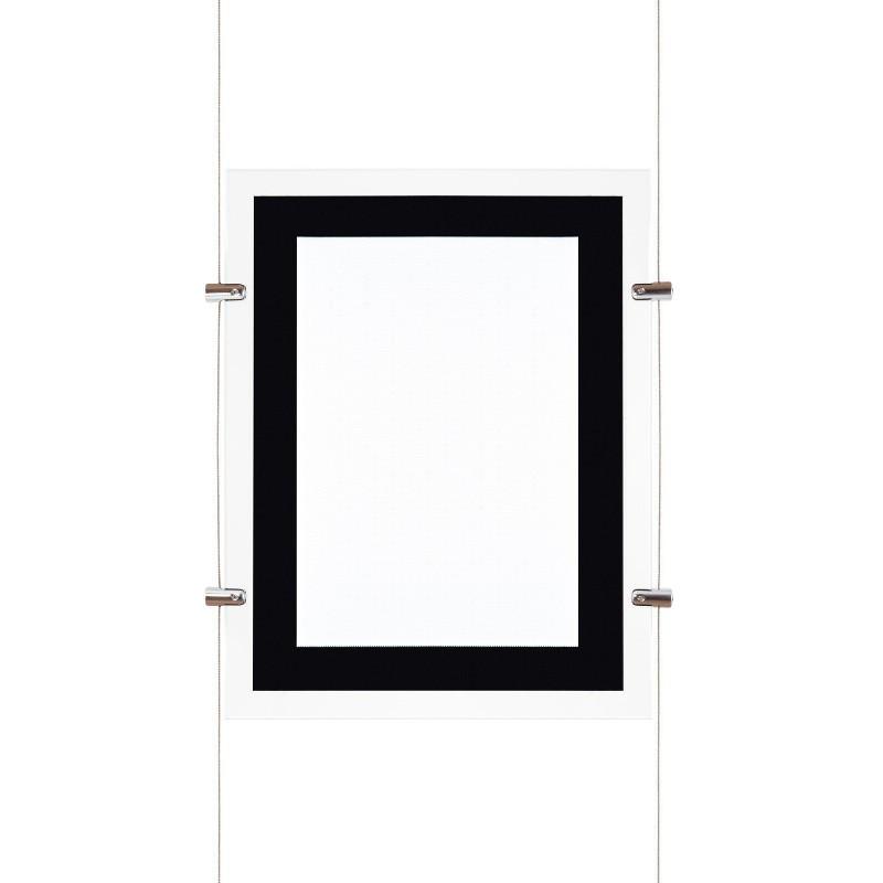 Affichage de vitrine verticale led A3 - ledpourlespros.fr