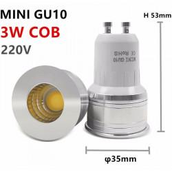 LED GU10 COB MINI 3w - ledpourlespros