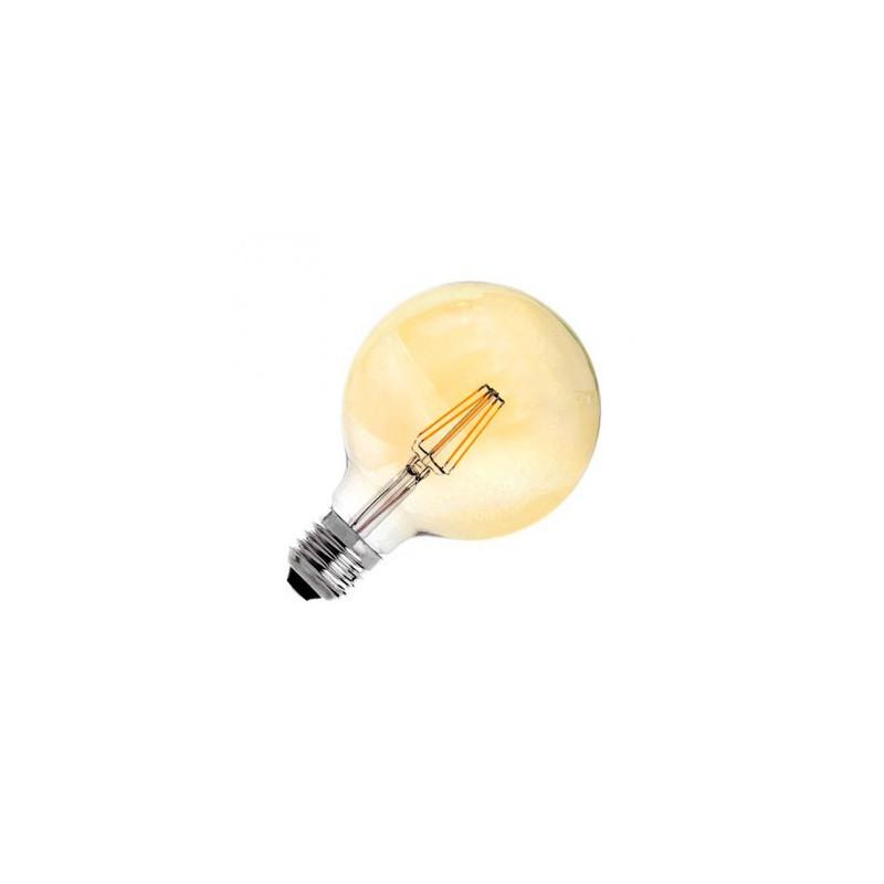 Ampoule LED E27 Réglable Filament Planet Gold G95 6W